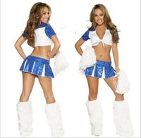 cheerleading uniforms - Bikini Cheerleading outfits Sexy Costumes SPORTS Cheerleader Costume lady Langerie school Uniform paillette Lala Jerseys DRESS fitness wear