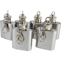 liquor - Top Quality OZ Stainless Steel Mini Pocket Liquor Hip Flask Key Ring Chain