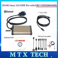 Wholesale Newest TCS CDP Pro Plus OKI CHIP M6636B with R2 keygen Bluetooth OBD2 For Diagnostic tool Full car cables