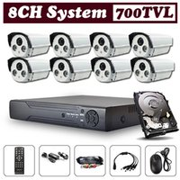 Wholesale CCTV Security System Kit CH DVR HDMI G with quot SONY CCD TVL CCTV Camera Waterproof LEDs OSD Control