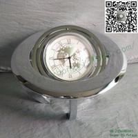Wholesale Metal table clock factory custom World Map legs ball bell desk zinc alloy metal table clock