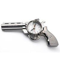 Wholesale Fashion cool Vintage Gun shape Creative Pistol alarm clock Desk Clock Bedside Alarm Clock Gift For Kids children