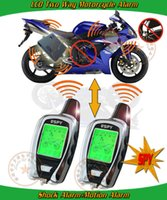 anti hijack - spy two way motorcycle alarm long distance remote anti hijacking mode remote start stop engine LED alarm indication motion alarm