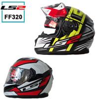 airbag safety - 2015 New helmet LS2 ff320 dual lens motocross helmet motorcycle full face helmet Genuine safety adjustable airbags