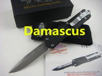 Knives damascus hunting knife - microtech Troodon A07 damas damascus Hunting Folding Pocket Knife Survival Knife Xmas gift for men freeshipping