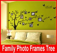 Wholesale new Large Room Photo Frame Decoration Family Tree Wall Decal Sticker Poster on a Wall Sticker Tree Wallpaper Kids Photoframe