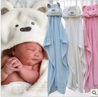 Wholesale Animal shape baby hooded bathrobe baby bathrobe baby bath towel baby blankets neonatal hold to be