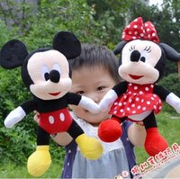 minnie mouse plush - 2014 New Piece CM CM Mini Lovely Mickey Mouse And Minnie Mouse Stuffed Soft Plush Toys Christmas Gifts A3