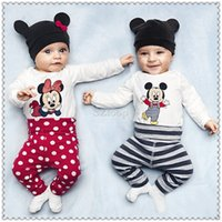 Summer baby romper body - Toddler newborn baby romper pieces clothing sets cotton one piece long sleeve hat body pant