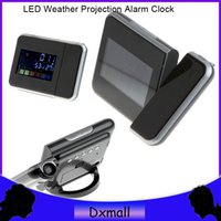 Cheap New Color LED Backlight Digital Weather Projection Alarm Clock Weather Forecast Station and for kids friends Christmas gifts