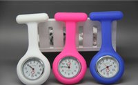 Wholesale New Colorful Nurse Brooch Fob Tunic Watch Silicone Cover Nurse Watch mix Colors F0032