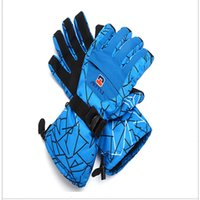 add art - Men s Gloves Outdoor riding mountain climbing sports car slip and fall winter skiing thick add velvet warm gloves