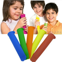 Cheap Push Up Ice Cream Pop Maker Ice Popsicle Mould Mold Jelly Lolly Mold mix colors