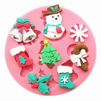 silicone molds - 3D silicone mold Snowman Christmas Tree cooking tools christmas wedding decoration molds candy Sugar Craft Soap Cake Decorating
