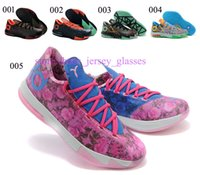 shoes size 5 women - New Arrival Kd6 VI Cheap Men Women Basketball Shoes Kids kd Aunt Pearl Kds What the kd Sneakers Illusion Glow in The Dark Size