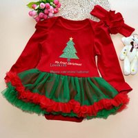 Wholesale Christmas Baby One Piece Romper Girl Dress One Piece Clothing Frozen Elsa Lace Jumpsuit Rompers Baby Dress Children Clothes Kids Clothing