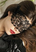 Wholesale New Arrival luxury Black Lace Mask Party Masks Half Face Venice hollow out for Women hot selling in Ball Bar