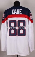 Cheap #88 Kane USA Jersey,2014 Team USA Olympic Ice Hockey Jersey,Best quality,Embroidery Logos,Authentic Jersey,Size M--XXXL