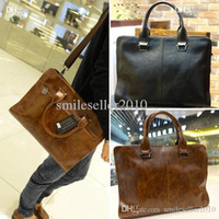 Wholesale Fashion Korean Retro Cross section Bag Business Computer Briefcase Shoulder Bag AP172 smileseller2010