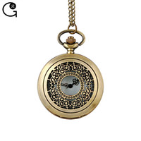 big lack - GR New arrival big size lacking one quartz watch bronze skeleton flower pocket watch gift for women