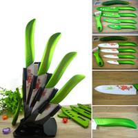 Wholesale Bueaty Ceramic Knife Set Kitchen Knives Fruit Chefs Knife Kit quot quot quot quot Peeler Acrylic Holder Covers