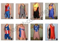 Wholesale Color Lycra Spandex Zentai Wrestling Singlet Tights Pants Costume Sportwear Bib shorts Suit S XXXL