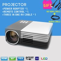 Wholesale 2PCS Newest GM50 Portable LED Mini Video LCD P D Home Theater Projector Full HD Projector Beamer Projector Cables