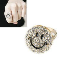Wholesale 5pcs Fashion Jewelery Round Smiling Face Rings Smile Face Finger Rings XMHM230