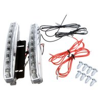 Wholesale 2X Super Bright White LED DRL Car Daytime Running Light Vehicle Head Lamp Dropshipping