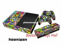 Wholesale STICKER BOMB FOR Microsoft Xbox ONE CONSOLE CONTROLLER DECAL STICKER SKIN SET Bombing Vinyl Decal Skin for X box one