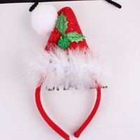 band christmas ornaments - Xayakids Hairpin The new Christmas ornaments are Christmas hat hoop headband party stage photo Tiara Baby Headband