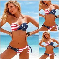 american detailing - Steel and Breast Padded Details about New Women s Ladies American Flag Stars and Stripes USA Padded Twisted Bikini Bandeau Swimwear S M
