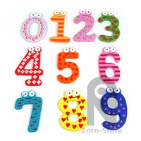 Wholesale Zorn toys Store Fridge Magnets Funky Fun Magnetic stickers Numbers Large Wooden Fridge Magnets Kids Educational toys cm