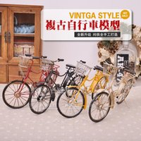 Wholesale Handmade retro bicycle vintage wrought iron metal model car models nostalgic decoration ornaments Vintage
