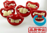Wholesale Top Silicone Funny Nipple Dummy Baby Soother Joke Prank Toddler Pacy Orthodontic Nipples Teether Baby Pacifier Care JIA666