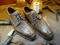 bespoke leather - Luxury Bespoke Handmade Pure Alligator Leather men s Dress Oxford shoe Goodyear Dress Business shoes