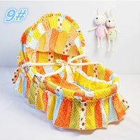 Wholesale 100 Cotton Cloth Corn Husk Straw Braid Bassinet for Newborn Baby Carry Cot Cribs Colors Infant Sleeping Basket
