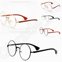 Wholesale 5 design new Retro Vintage Harry Potter Gold Round Eyeglass Glasses Eyewear Clear Lens LJJK62