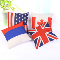 american flag country - Christmas Theme Pillow Case Perfect American Country Flag Pillow Case Bedroom Cushion Cover Square Linen Xmas Decoration x18 inch x45 cm