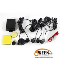 Wholesale Warning New Sensors Buzzer Car Parking Sensor Kit Reverse Backup Radar Sound Alert Indicator Probe System V