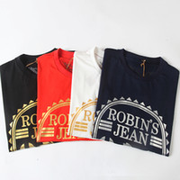 Wholesale New Arrivals Men s Robin T Shirts Short Sleeve Mens TShirts Cotton Tee Tops with Eagle Wings Hip Hop size M XL Black White Red