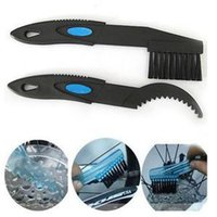Wholesale 2x Bicycle Outdoor Cleaner Scrubber Tool Bike Chain Clean Brush Cleaning Bike Set