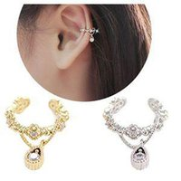 Cheap Fashion Rock Fashion Ear Cuff Wrap Rhinestone Cartilage Clip On Earring Non Piercing For SALE