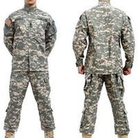 airsoft camouflage - Fall BDU ACU Camouflage suit sets Army Military uniform combat Airsoft uniform Only jacket amp pants