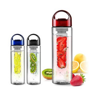 Wholesale 2015 New BPA Tritan Fruit Infuser Water Bottle ml Eco frindly Sports Juice Maker Thermoses Drinking Bottle Drinkware