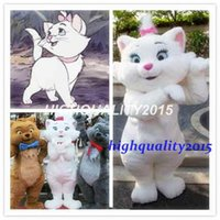 aristocats characters - Customized Professional Aristocats Marie mascot Cartoon Character High quality Adult Costume New custom Promotion