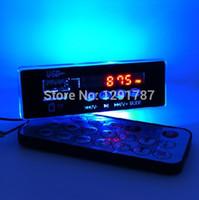 Wholesale V V MP3 audio decoder board Digital LED W remote control FM radio FOR CAR