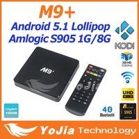 Wholesale 5pcs Genuine M9 M9 Plus Amlogic S905 Quad Core Andorid TV BOX M LAN GB GB Bluetooth4 H KODI