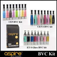 Non-Replaceable aspire battery replacement - Original Aspire CE5 CE5 S ET S Glass BVC Version Kit with Replacement BVC Coil EGO Thread fit Aspire CF VV G POWER Kanger IPOW2 Battery