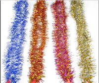 Wholesale New Christmas Tree Tinsel Meters Christmas Decoration Long Party New Year Multicolor Color Bar Garlands Festive